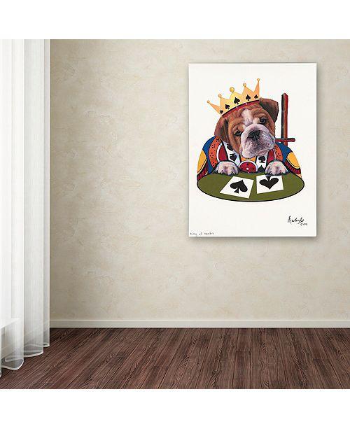 "Trademark Global Jenny Newland 'King Of Spades' Canvas Art, 18"" x 24"""