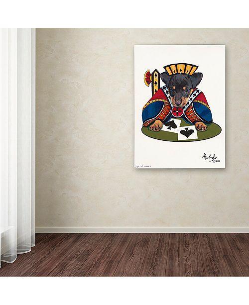 """Trademark Global Jenny Newland 'Jack Of Spades' Canvas Art, 35"""" x 47"""""""