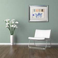 """Nick Bantock 'Blue Angel' Matted Framed Art, 11"""" x 14"""""""