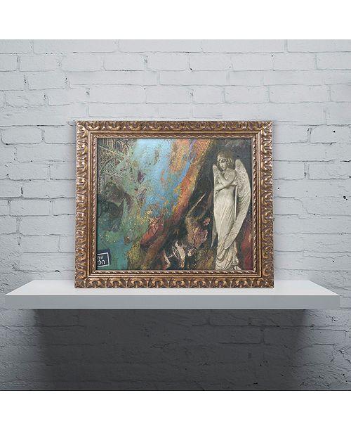 "Trademark Global Nick Bantock 'Green Angel' Ornate Framed Art, 11"" x 14"""