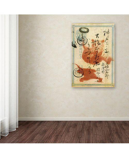 "Trademark Global Nick Bantock 'Japan Tiger' Canvas Art, 12"" x 19"""