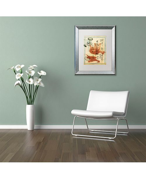 """Trademark Global Nick Bantock 'Japan Tiger' Matted Framed Art, 16"""" x 20"""""""