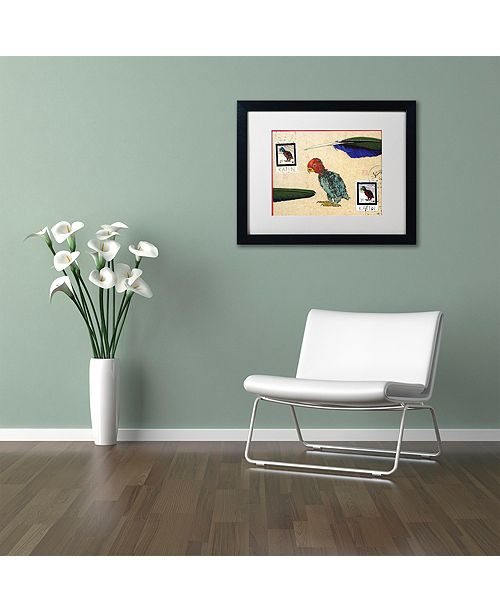 "Trademark Global Nick Bantock 'Katin Parrot' Matted Framed Art, 16"" x 20"""