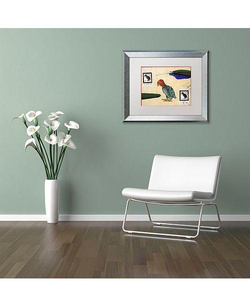 "Trademark Global Nick Bantock 'Katin Parrot' Matted Framed Art, 11"" x 14"""