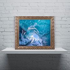 Michael Blanchette Photography 'Ice Vortex' Ornate Framed Art