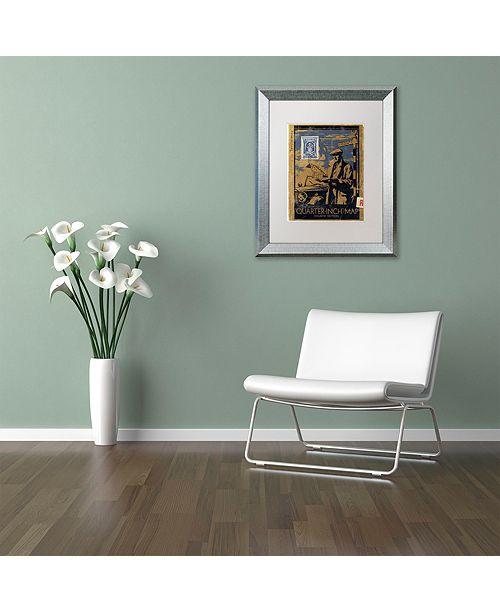 "Trademark Global Nick Bantock 'Mapman' Matted Framed Art, 11"" x 14"""