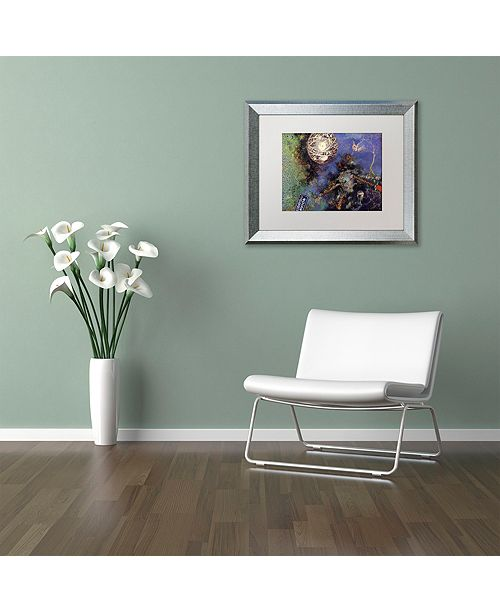 "Trademark Global Nick Bantock 'Night Angel' Matted Framed Art, 11"" x 14"""