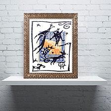 Nick Bantock 'Pelicos Stamp' Ornate Framed Art