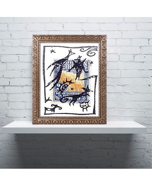 Trademark Global Nick Bantock Pelicos Stamp Ornate Framed Art
