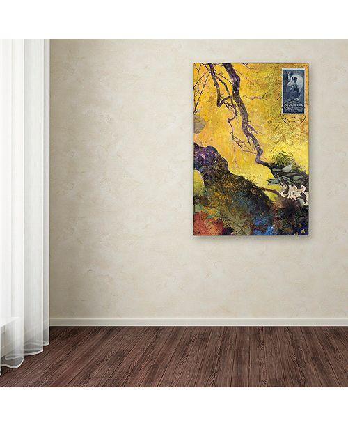 "Trademark Global Nick Bantock '124 Golden Bough' Canvas Art, 30"" x 47"""