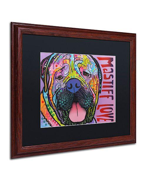 "Trademark Global Dean Russo 'Mastiff Love' Matted Framed Art, 16"" x 20"""