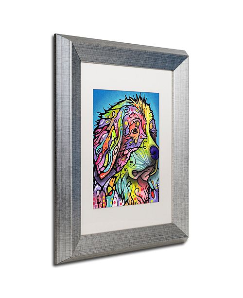 "Trademark Global Dean Russo 'Mountain Dog' Matted Framed Art, 11"" x 14"""