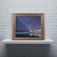 Michael Blanchette Photography 'Pier in the Stars' Ornate Framed Art