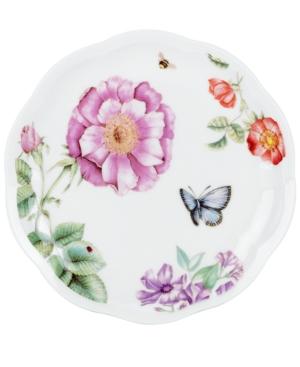 Lenox Dinnerware Set of 4 Assorted Butterfly Meadow Bloom Dessert Plates