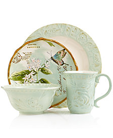 Fitz and Floyd Dinnerware, Toulouse Green Collection