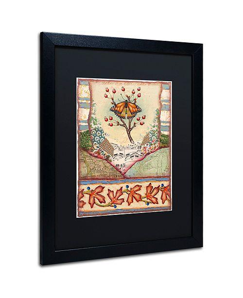 """Trademark Global Rachel Paxton 'Mink Meadows Butterfly' Matted Framed Art, 16"""" x 20"""""""