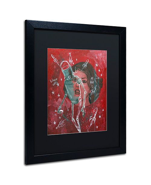 "Trademark Global Craig Snodgrass 'Blast-Off' Matted Framed Art, 16"" x 20"""