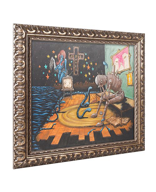 "Trademark Global Craig Snodgrass 'Jesus Saves' Ornate Framed Art, 11"" x 14"""