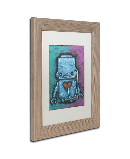 "Trademark Global Craig Snodgrass 'Weebot-Heart' Matted Framed Art, 11"" x 14"""
