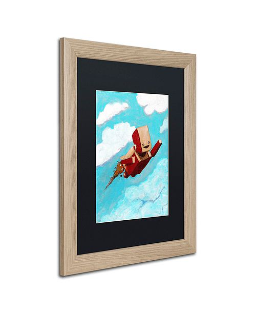 """Trademark Global Craig Snodgrass 'Rocket Bot' Matted Framed Art, 16"""" x 20"""""""