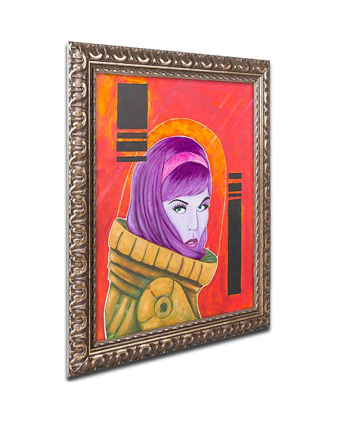 "Trademark Global Craig Snodgrass 'Astro-Anna I' Ornate Framed Art, 11"" x 14"""