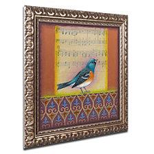 Rachel Paxton 'Indigo Bunting' Ornate Framed Art