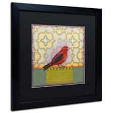 """Rachel Paxton 'Small Bird' Matted Framed Art, 16"""" x 16"""""""