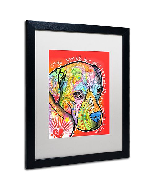 "Trademark Global Dean Russo 'Dogs Speak' Matted Framed Art, 16"" x 20"""