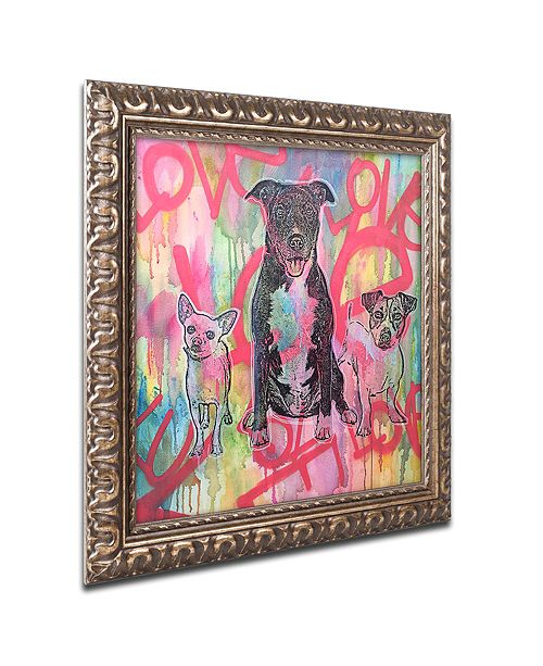 "Trademark Global Dean Russo 'Tres Amigos' Ornate Framed Art, 16"" x 16"""