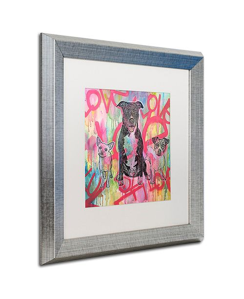 """Trademark Global Dean Russo 'Tres Amigos' Matted Framed Art, 16"""" x 16"""""""