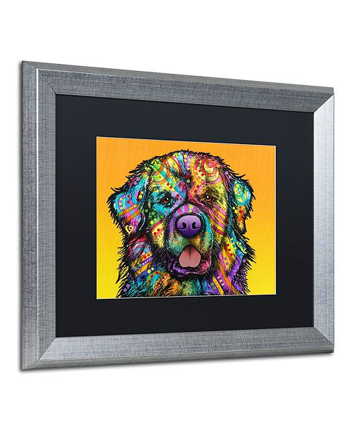 "Trademark Global Dean Russo 'Newfie' Matted Framed Art, 16"" x 20"""