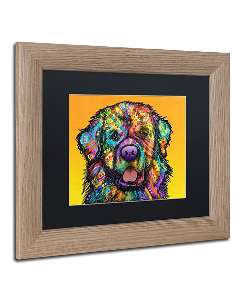 "Trademark Global Dean Russo 'Newfie' Matted Framed Art, 11"" x 14"""