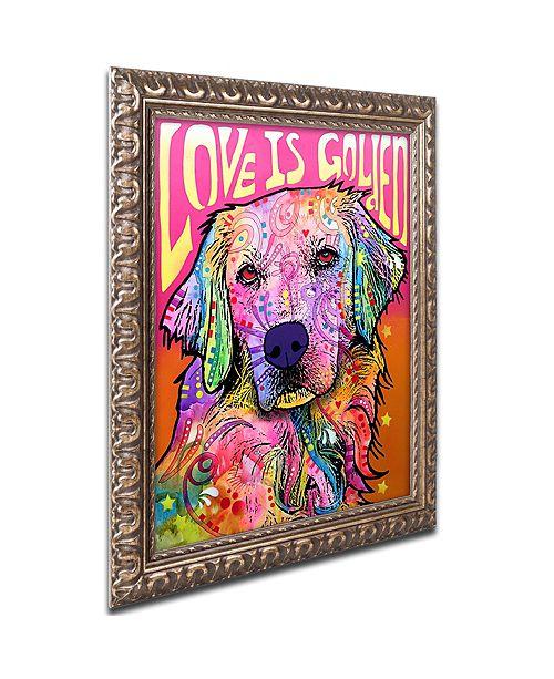 "Trademark Global Dean Russo 'Love is Golden' Ornate Framed Art, 11"" x 14"""