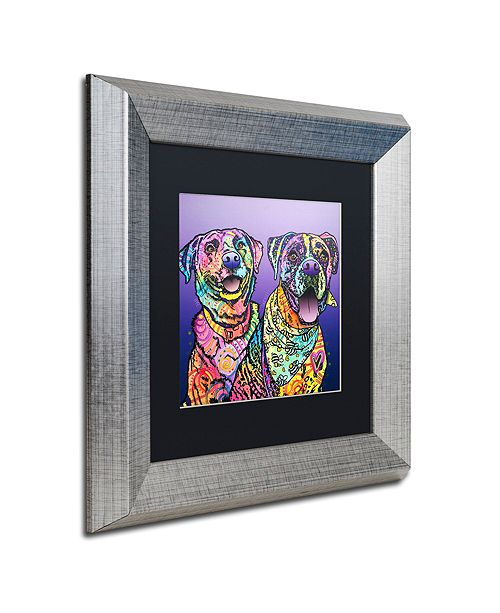 "Trademark Global Dean Russo 'Peas In A Pod' Matted Framed Art, 11"" x 11"""