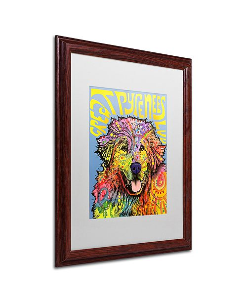 "Trademark Global Dean Russo 'Great Pyrenees' Matted Framed Art, 16"" x 20"""