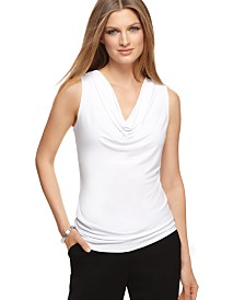 Calvin Klein Sleeveless Cowl-Neck Top