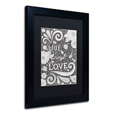 "Hello Angel 'Live Laugh Love Black' Matted Framed Art, 11"" x 14"""