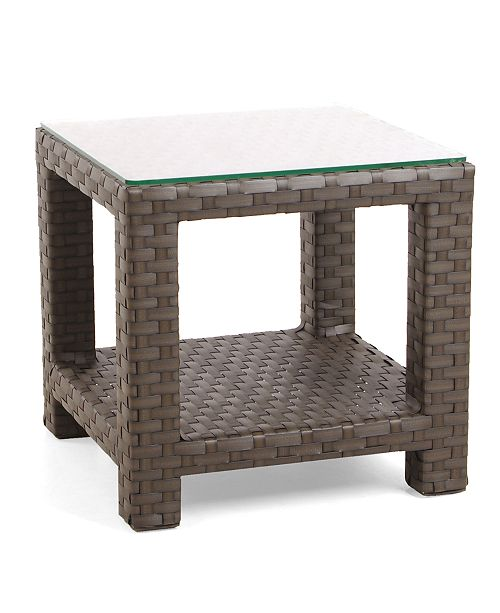 Furniture San Lucia Wicker Outdoor End Table