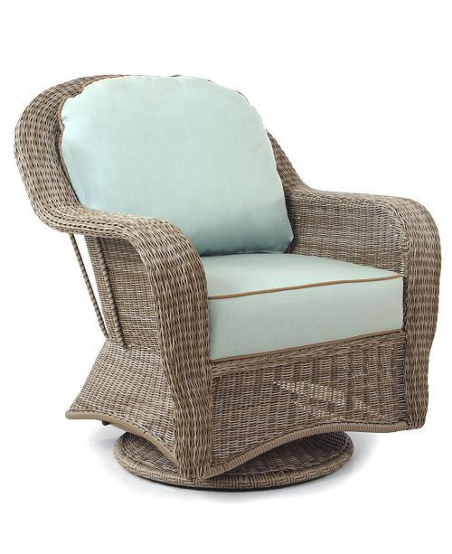 Sandy Cove Wicker Outdoor Swivel Glider