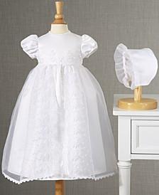 Baby Girls Split-Front Christening Dress