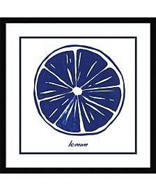 Amanti Art Indigo Lemon Framed Art Print