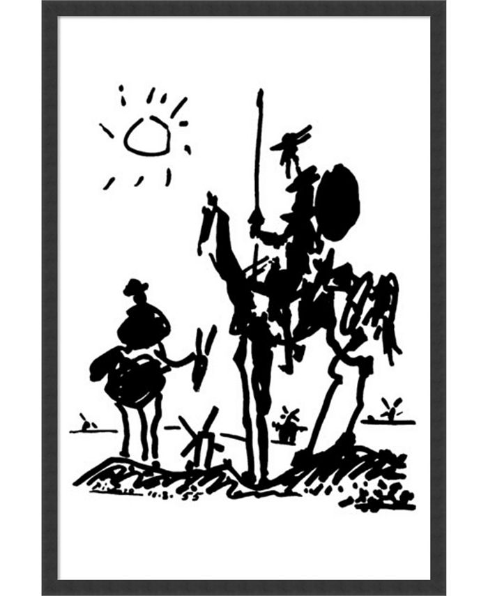 Amanti Art - Don Quixote by Pablo Picasso- 25x37 Framed Art Print