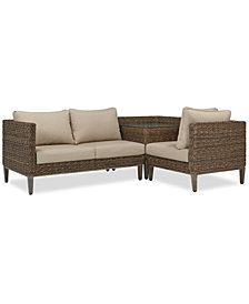 La Palma Outdoor 3-Pc. Sectional Seating Set (1 Right-Arm Loveseat Sectional, 1 Corner Table With Arm And 1 Corner Sectional), Created For Macy's