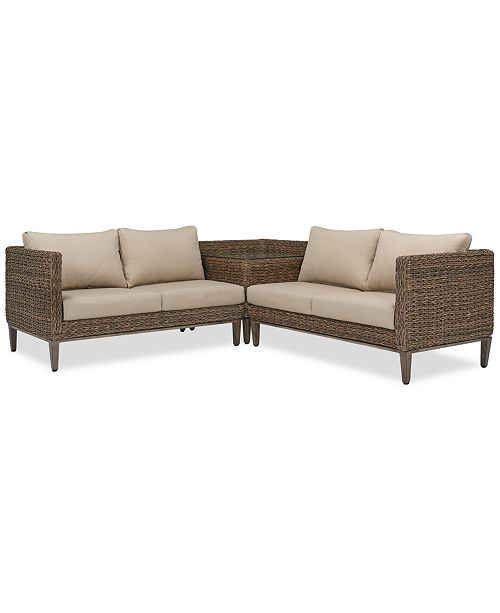 Enjoyable Closeout La Palma Outdoor 3 Pc Sectional Seating Set 1 Right Arm Loveseat Sectional 1 Corner Table With Arm And 1 Left Arm Loveseat Sectional Uwap Interior Chair Design Uwaporg