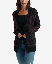 Lucky Brand Button-Front Fair Isle Cardigan