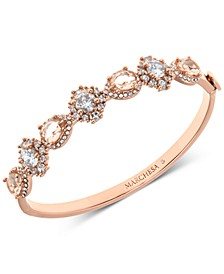 Rose Gold-Tone Crystal & Stone Bangle Bracelet
