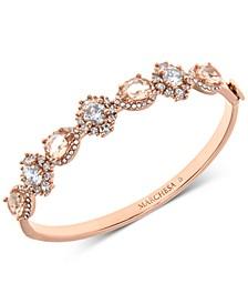 Rose Gold-Tone Crystal & Stone Bangle Bracelet