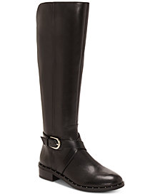 I.N.C. Fadora Wide-Calf Riding Boots, Created For Macy's