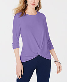Style & Co Twist-Front Top, Created for Macy's