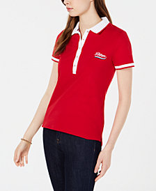 Tommy Hilfiger Embroidered Logo Polo Top, Created for Macy's